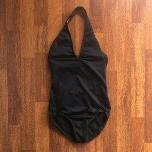 Vintage Black Halter Bathing Suit Simple Classic S